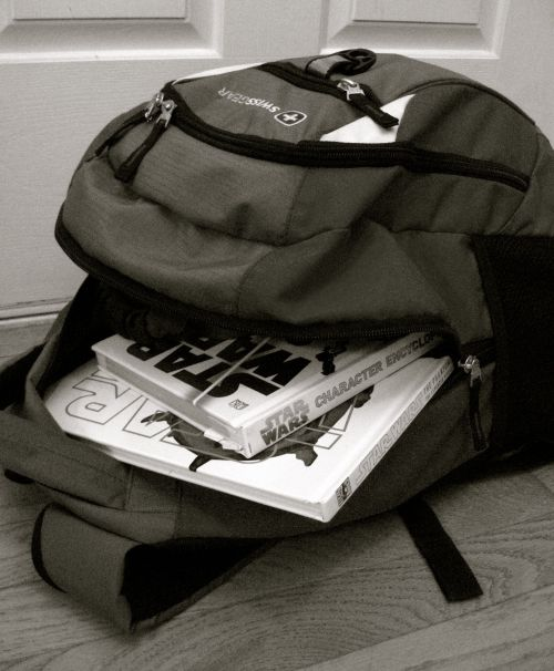 stuffed backpack